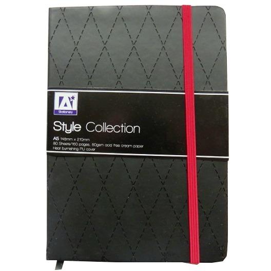 A5 Casebound Notebook - Stylish Black