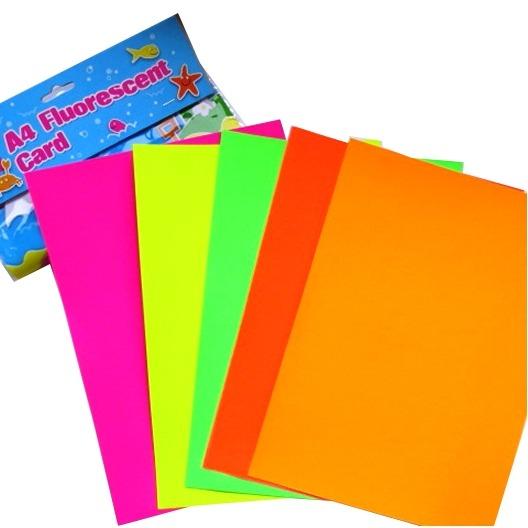 A4 Coloured Fluorescent Card