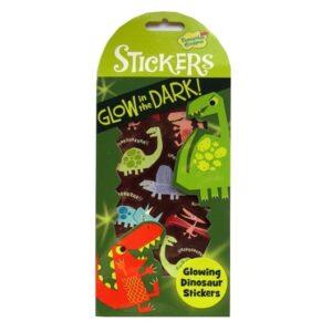 Glow in the dark stickers Dinosaur front