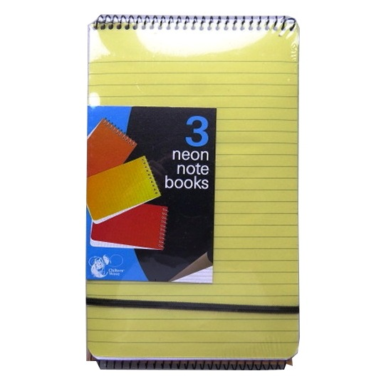 Neon Notebooks - Pack of 3