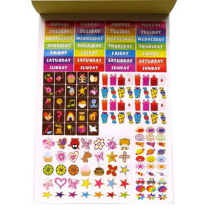 Childrens Sticker Book and Day Planner Chart