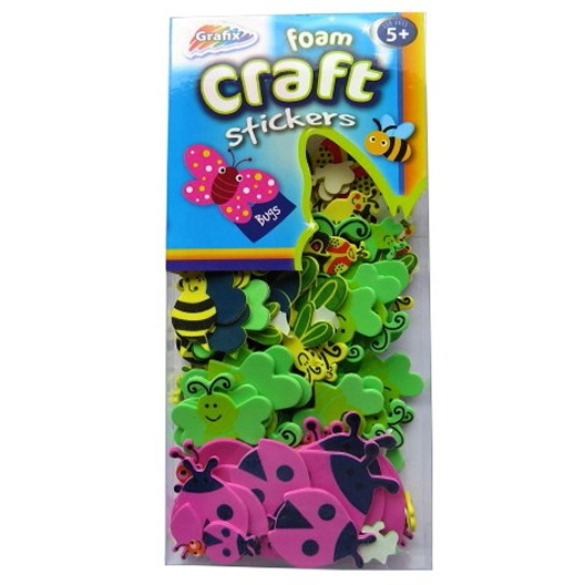 Foam craft stickers bugs