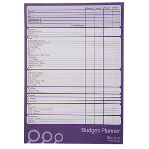 A4 Budget Planner Front