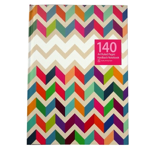 A4 Hardcover Notebook – Multi Chevron