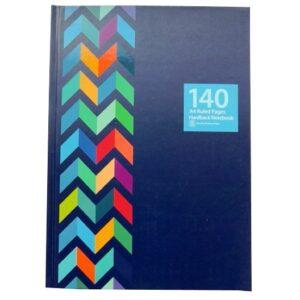 A4 Hardcover Notebook – Navy Chevron