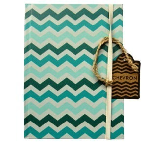 A6 Pocket Notebook Teal Chevron