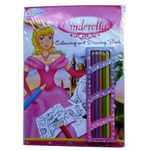 A4 Cinderella Colouring and Drawing Book