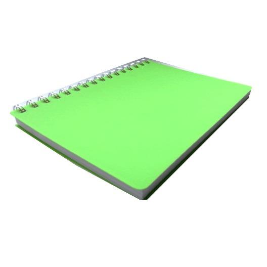A5 Premium Wirebound Notebook - Lime Green