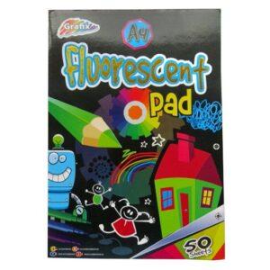 A4 Children's Fluorescent Art Pad in 5 Colours