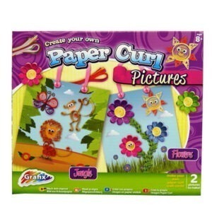 Childrens Create Paper Curl Pictures – Flowers and Jungle