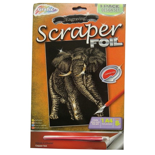 Engraving Scraper Foil Pack – Indian Elephant, Copper Foil