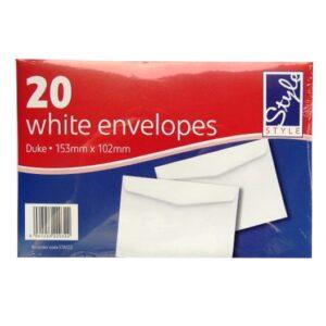 White Duke Writing White Envelopes