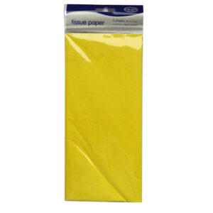 Tissue Paper - Yellow, 50cm x 75cm, 5 Sheets