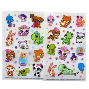 Littlest Pet Shop - Creative Rub on Transfer Stickers