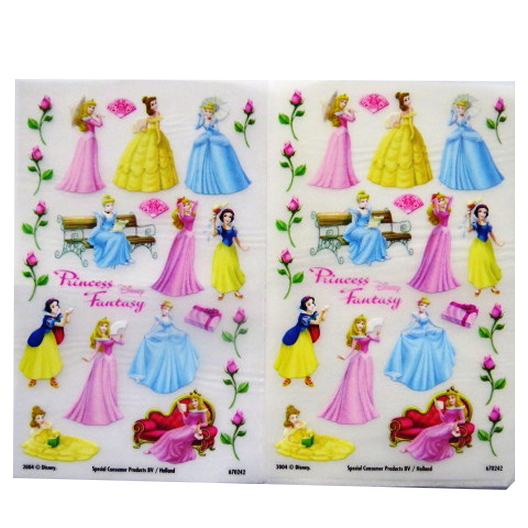 Disney Princesses - Creative Rub on Transfer Stickers