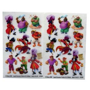Peter Pan Villains - Creative Rub on Transfer Stickers