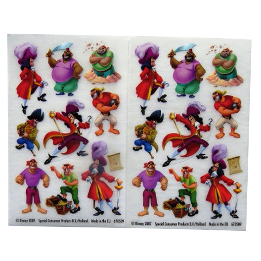 Peter Pan Villains - Creative Rub on Transfer Stickers