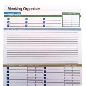 A4 Meeting Organiser Notepad