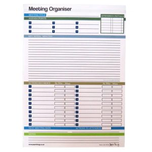 A4 Meeting Organiser Notepad