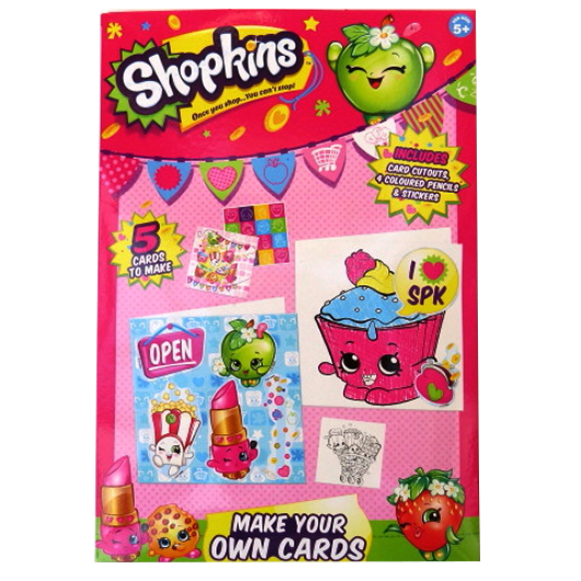 Shopkins - Childrens Make Your Own Cards