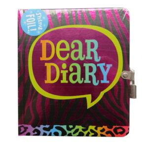 Secret Diary, Hardcover - Shiny Foil Animal Print