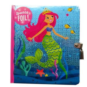 Secret Diary, Hardcover - Mermaid Sparkly Foil