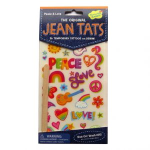 Jean Tattoos Peace and Love