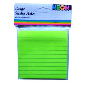 Large Sticky Notes Green Front