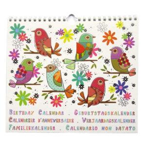 Birthday Calendar - Monthly Themed Art