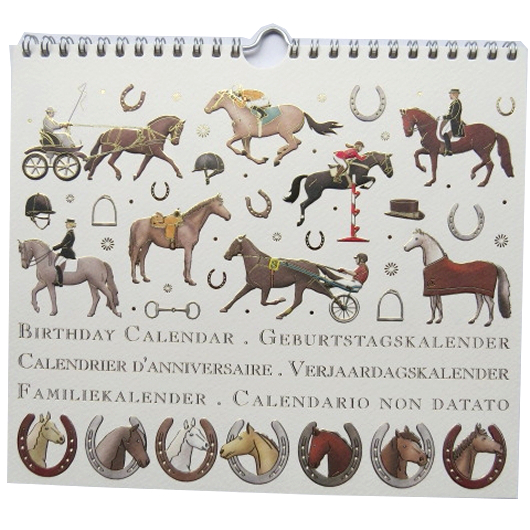 Birthday Calendar - Equestrian and Horses