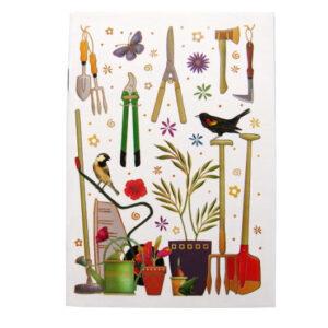A6 Doodle Notebook Gardening Design Front
