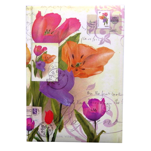 A6 Notebook Tulips Design Front